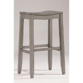 Fiddler Non-Swivel Backless Bar Stool in Aged Gray Finish, 18'' W x 12'' D x 30'' H
