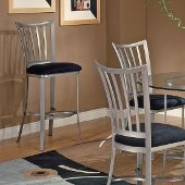 Delray Non-Swivel Counter Stool in Mission Pewter Finish and Black Faux Suede, 19'' W x 16-1/2'' D x 41-1/2'' H