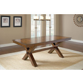 Park Avenue Trestle Table, Dark Cherry