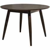 San Marino Round Wood Dining Table, Chestnut, 42''W x 42''D x 30''H