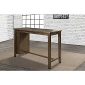 Spencer Counter Height Table in Dark Espresso (Wire brush) Finish, 55'' W x 24'' D x 36'' H