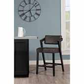Snyder Stationary Counter Height Stool, Blackwash, 21-1/2''W x 24''D x 37-1/2''H