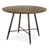Forest Hill Dining Table in Brown Finish, 44'' W x 44'' D x 30'' H