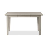 Elder Park Expandable Rectangle Dining Table in White Sands Finish