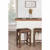 Willow Bend Stationary Counter Height Stool, Set of 2, Antique Brown Walnut, 19-1/2''W x 14-1/4''D x 26''H
