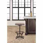 Keckley Commercial Grade Swivel Counter Height Stool, Brown with Woven Beige Upholstery, 19''W x 19''D x 26''H