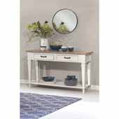 Rockport Sideboard in White Wood and Driftwood Top, 60''W x 18''D x 35''H