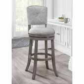 Santa Clara II Swivel Bar Stool, Antique Gray, 22''W x 16''D x 44-1/2''H