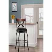 Stockport Swivel Bar Height Stool, Pewter, 19-1/8''W x 17''D x 44-1/2''H
