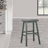Moreno Backless Counter Height Stool, Hunter Green, 18''W x 9-1/2''D x 24''H