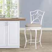 Avienne Swivel Counter Stool, White, 22-1/2''W x 22-1/2''D x 41-1/2''H
