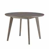 Alden Bay Modern Round Dining Table, Weathered Gray, 45''W x 45''D x 30''H
