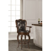 Eastwind Swivel Bar Stool, Dark Cherry Finish, Dark Brown Vinyl Seat, 26''W x 22.75''D x 46''H