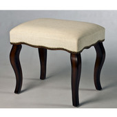 20-1/2'' W x 15-3/4'' D x 19'' H Hamilton Backless Vanity Stool with Nail Head Trim