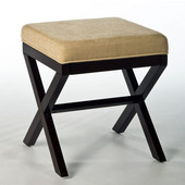 17'' W x 17'' D x 18-1/2'' H Morgan Wood Vanity Stool