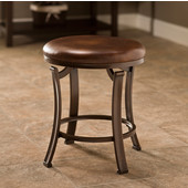 Hastings Collection Backless Vanity Stool in Antique Bronze, 16'' W x 16'' D x 19'' H