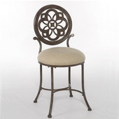 Marsala Vanity Stool, Gray with Rust Highlights Finish, 16'' W x 18-3/4'' D x 33-7/8'' H