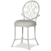 O'Malley Vanity Stool in Matte White Finish