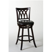 Tateswood Swivel Counter Stool, 19-1/2In. W x 23In. D x 41In. H, Cherry