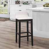 Maydena Bar Height Stool, Black, 16-1/2''W x 18-3/4''D x 35-1/4''H