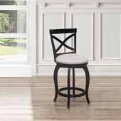 Ellendale Swivel Counter Height Stool, Black, 17-1/2''W x 21''D x 39''H