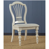 Pine Island Wheat Back Side Chair, Set of 2, Old White & Ivory Finish, 23-1/2'' W x 24'' D x 40-1/4'' H