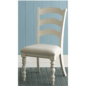 Pine Island Ladder Back Side Chair, Set of 2, Old White & Ivory Finish, 20-5/8'' W x 23-1/2'' D x 40-1/4'' H