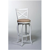 Ellendale Swivel Counter Stool, 17-1/2In. W x 21In. D x 39In. H, White