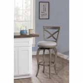 Ellendale Swivel Counter Height Stool, Aged Gray, 17-1/2''W x 21''D x 38-7/8''H