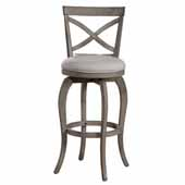 Ellendale Swivel Bar Height Stool, Aged Gray, 17-1/2''W x 21''D x 44-1/2''H