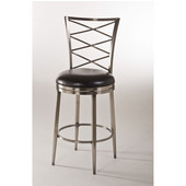 Harlow Swivel Counter Stool, 19In. W x 22-3/4In. D x 43-3/4In. H, Antique Pewter