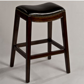 Sorella Non-Swivel Backless Bar Stool, Espresso & Black Finish, 20-3/4'' W x 16-3/4'' D x 29-3/4'' H