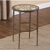 Marsala End Table, Gray with Brown Rub Finish, 17-1/4'' W x 17-1/4'' D x 24'' H