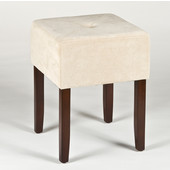 Bellamy Collection Backless Vanity Stool in Brown, 16-3/4'' W x 16-3/4'' D x 18'' H