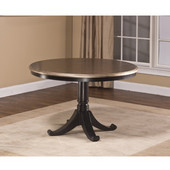 Hillsdale Bennington Pedestal Table in Black Distressed Gray , 48''W x 48''D x 30''H