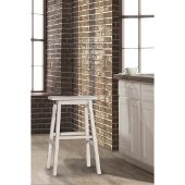Moreno Non-Swivel Backless Counter Stool in Sea White Finish, 18'' W x 9-1/2'' D x 24'' H