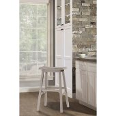 Moreno Non-Swivel Backless Counter Stool in Distressed Gray Finish, 18'' W x 9-1/2'' D x 24'' H