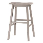 Moreno Non-Swivel Backless Bar Stool in Distressed Gray Finish, 18'' W x 9-1/2'' D x 29'' H
