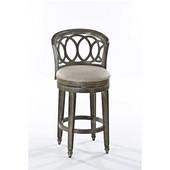 Hillsdale Adelyn Swivel Bar Stool in Gold Metallic Silver w/ Putty Fabric, 22-3/4''W x 23''D x 43''H
