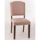 Emerson Parson Dining Chair, Set of 2 in Brown Finish and Oyster (Beige) Fabric, 19-3/4'' W x 19'' D x 38-1/2'' H