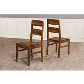 Emerson Wood Dining Chair - Set of 2, Natural Sheesham Finish