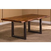 Emerson Rectangle Dining Table in Natural Sheesham / Gray Powder Coat, 80'' W x 39'' D x 30'' H