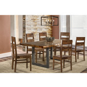 Emerson 7-Piece Rectangle Dining Set with Table and 6 Wood Chairs, Natural Sheesham Finish