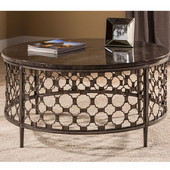 Brescello Round Coffee Table in Charcoal / Blue Stone, 36'' W x 36'' D x 18'' H
