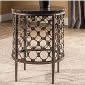 Brescello Round End Table in Charcoal / Blue Stone, 18'' W x 18'' D x 24'' H