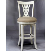 Embassy Swivel Counter Stool, White