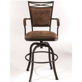Bridgetown Tilt Base Counter Stool, Aged Bronze