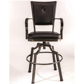 Castlebrook Swivel Bar Stool, Weathered Bronze Pewter
