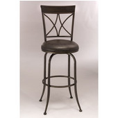 Killona Swivel Bar Stool, Antique Pewter