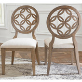 Savona Dining Chair, Set of 2 in Vintage Gray Finish and Putty Fabric, 23'' W x 19'' D x 39-1/2'' H